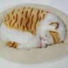 ตุ๊กตาแมว นอนหลับ หายใจได้ (ใส่ถ่าน) สีการ์ฟีลด์หัวขาว