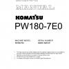 หนังสือ คู่มือซ่อม โอเวอร์ฮอล วงจรไฟฟ้า วงจรไฮดรอลิก จักรกลหนัก PW180-7E0 H55051 (ทั้งคัน) EN