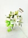 แจกันดอกไม้กุหลาบ-ลิลลี่ขาว รหัส 3063