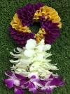 พวงมาลัยดอกไม้สด ขนาดกลาง รหัส 3309