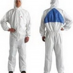ชุดป้องกันสารเคมี ชุดป้องกันฝุ่น ละออง 3M-4540 Type 5/6 (Coverall White+Blue)
