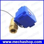 มอเตอร์วาล์วไฟฟ้าปิดเปิดน้ำ 4 หุน CWX-15 DN15 2-way DC12v motorized brass ball valve CR05 5 wires with feedback signal 1/2 inch