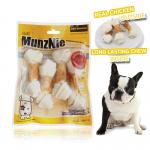 ขนมสุนัข MUNZNIE กระดูกผูกขาว 4นิ้ว พันอกไก่