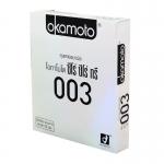 Okamoto 0.03 (Thai Edition) ชนิดบางพิเศษ เพียง 0.03 มม. โปร่งใส ทนทาน ขนาด 5.2 mm