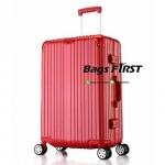 กระเป๋าเดินทางขอบอลูมิเนียมสีแดง ขนาด 29 นิ้ว