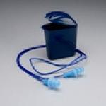 3m-1293 ปลั๊กอุดหู ลดเสียง สาย PVC บรรจุกล่องสีน้ำเงินคาดเอว