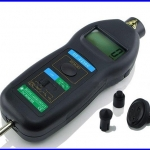 เครื่องวัดความเร็วรอบ วัดความเร็วรอบ มิเตอร์วัดความเร็วรอบ มิเตอร์วัดรอบ 2in1 Digital Laser Tachometer (Made in Taiwan)