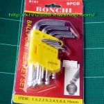 ประแจหกเหลี่ยมตัวแอลหัวบอล BONCHI 9ตัว/ชุด รุ่น B101