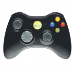 XBOX360: Wireless Controller - Black (Microsoft)