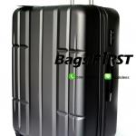 กระเป๋าเดินทางเนื้อไฟเบอร์ ขนาด 24 นิ้ว สีเทาเข้ม
