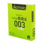 Okamoto 0.03 Aloe (Thai Edition) บาง 0.03 มม.เจลสูตรน้ำ บำรุงผิวพรรณ ลดอาการอักเสบ และฆ่าเชื้อแบคทีเรีย ขนาด 5.2 มม.