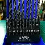 ดอกสว่านเจาะเหล็ก APEX 19 ตัวชุด 1.0-10 มม.