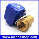 """มอเตอร์วาล์วไฟฟ้าทองเหลือง วาล์วปิดเปิดน้ำไฟฟ้า 1/2"""" 4หุน CWX-60P DN15 BSP 2ทาง brass motorized ball valve , Actuator control valve DC24V CR05 5 wires (Feedback Signal)"""