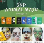 SNP Animal Mask 4 kinds Start Kit (120,000won) ( 10 Piece/Box/เฉลี่ยแผ่นละ 100 ฿ ) ชุด 4 แบบ