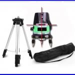 วัดระดับน้ำเลเซอร์ วัดระดับเลเซอร์Tripod and Laser Levels Measuring 5 Lines 6 Points Level Laser Tools 635nM Leveling Tilt Slash Function with Outdoor
