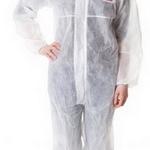 ชุดป้องกันฝุ่น ละออง 3m-4500 (Coverall White CE Simple)