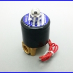 """โซลินอยด์วาล์ว วาล์วไฟฟ้าปิดเปิดน้ำ ปิดเปิดน้ำมัน Electric Solenoid Valve Water Air N/C 220V AC 1/4"""" 2หุน"""