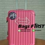 กระเป๋าเดินทาง ไฟเบอร์ รหัส 1205 สีชมพู ขนาด 24 นิ้ว