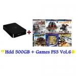 External HDD 500GB + Games PS3 Vol.6 (CFW3.55+) [ส่งฟรี EMS]