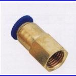 ขั้วต่อลม ข้อต่อลม อุปกรณ์ลม SPCF4-01 SPCF series female sraight(จำนวน10ชิ้น)