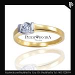 แบบเรือน แหวนเพชรCZ Yellow Gold หรือ ทอง เป็นอย่างไร