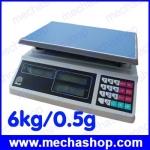 เครื่องชั่งดิจิตอล เครื่องชั่งคำนวณราคา Price computing scales 6kg ความละเอียด 0.5g หน้าจอแสดงผลLED 6หน้าจอ ACS-EC-LCD-6