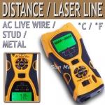 เครื่องมือวัดระยะ 5 in1 Distance Meter Stud Metal Wire Detector Laser Tool