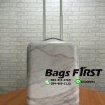 กระเป๋าเดินทางล้อลาก ลายหินอ่อน ขนาด 20 นิ้ว