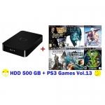 External HDD 500GB + Games PS3 Vol.13 (CFW3.55+) [ส่งฟรี EMS]