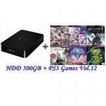 External HDD 500GB + Games PS3 Vol.12 (CFW3.55+) [ส่งฟรี EMS]