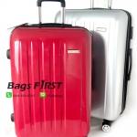 กระเป๋าเดินทาง 4 ล้อ สีแดง/เทาเงิน ขนาด 29 นิ้ว