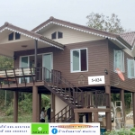 5-024 บ้านน็อคดาวน์หลังใหญ่ - ทรงจั่วมุกซ้อน