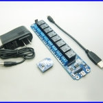 บลูทูธควบคุมอุปกรณ์ ควบคุมอุปกรณ์ไฟฟ้าภายในบ้าน USB/Wireless 5V Relay Module Bluetooth Remote Control 8 Channel