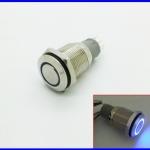 สวิทซ์กดติดปล่อยดับ สวิทช์16มม พร้อมไฟLEDสีฟ้า stainless Steel Round Momentary Push Button Switch 3A/250VAC