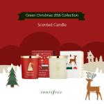 (พร้อมส่ง) Innisfree green christmas SPECIAL WISH & FULL OF JOY SCENTED CANDLE เทียนหอม มีให้เลือก 2 กลิ่น 18,000won
