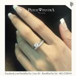 แหวนเพชรCZ แหวนเพชรรัสเซีย สองแถว