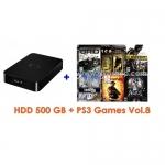 External HDD 500GB + Games PS3 Vol.8 (CFW3.55+) [ส่งฟรี EMS]