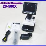 """กล้องไมโครสโคป พร้อมจอ LCD 3.5"""" stand alone digital microscope 20X-500X 5M USB บันทึกภาพ วีดีโอ (มีซอฟต์แวร์วัดขนาดได้)"""