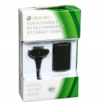 XBOX360 : Play Charge Kit - Black (3rd Party)