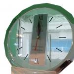 นาฬิกา 16เหลี่ยม สีเงิน