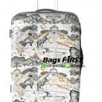 กระเป๋าเดินทางเนื้อ PC ลายแผนที่ ขนาด 24 นิ้ว