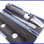 เครื่องวัดความหวานพร้อมกล่องพลาสติก Aluminum Salinity Salt Refractometer For Aquarium Fish Tank 0%-10% Hydrometer
