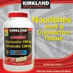 *หมดค่ะ*Kirkland Signature Glucosamine HCI 1500mg Chondroitin Sulfate 1200mg 220 Tablets ใหม่ล่าสุดปริมาณเม็ดมากขึ้น