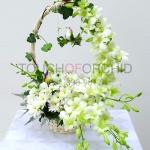 กระเช้าดอกไม้ White Forest