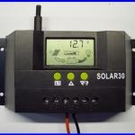 โซล่า ชาร์จเจอร์ 30A 12V/24V Solar Controller Regulator Charge Battery Safe Protection