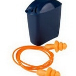 3m-1271 ปลั๊กอุดหู ลดเสียง สาย PVC บรรจุกล่องสีน้ำเงินคาดเอว