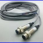 เลเซอร์เซนเซอร์ Laser sensor laser photoelectric switch M12 NPN 6-36Vdc ระยะตรวจจับ 10 เมตร แถม Bracket