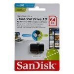Flash Drive SanDisk Ultra Dual USB Drive 3.0 64 GB สีดำ