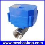 """มอเตอร์วาล์วไฟฟ้า วาล์วไฟฟ้าสแตนเลส CWX-60P DN25 G1"""" BSP 2 way SS304 6Nm torque mini electric ball valve/ motor operated valve DC24V CR01S 2 wires"""