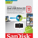 Flash Drive SanDisk Ultra Dual USB Drive 3.0 16 GB สีดำ